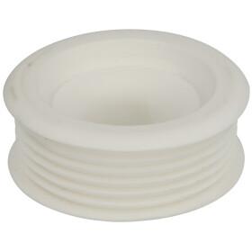 Rubber unitas collar straight 28 mm, bright