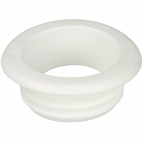 Rubber flush pipe connection white, without escutcheon