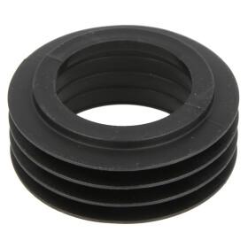 Rubber flush pipe connection black