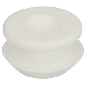 Universal rubber connectors white, without escutcheon