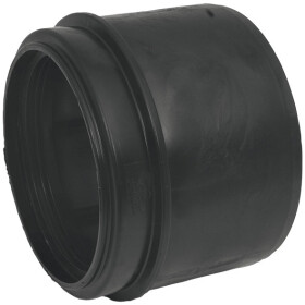 PE adapter, 90 to 110 mm black