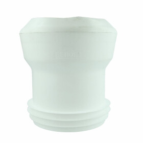 WC connection straight 100 x 100 mm F/M white for EURO WCs
