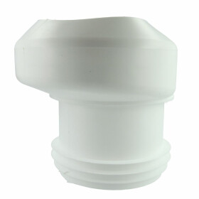 WC-connection 18.5 mm ex 100 x 100 i/e white, for EURO WCs