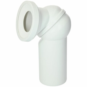 WC connection elbow 0-90° DN 110 with special lip seal