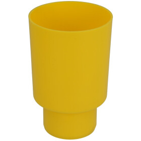 Protection for concealed flush pipe elbow, yellow