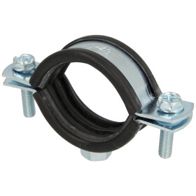 """Pipe clamps, zinc-coated M 8 x 40-43 mm (1 1/4"""")"""