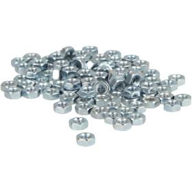Hexagon nut M3 (PU 100 pcs.) DIN 934, class 8, galv.,...