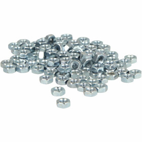 Hexagon nut M8 (PU 100 pcs.) DIN 934, class 8, galv. zinc...