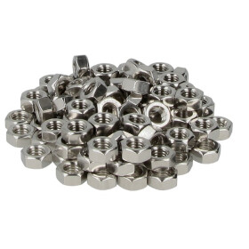 Hexagon nut M6 (PU 100 pcs.) DIN 934, class 8, stainless...
