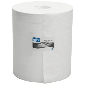 TORK big roll towels, single layer 710 tissues, white 43...