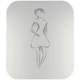 Pictogram, anodized aluminium, ladies self-adhesive