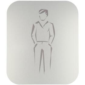 Pictogram, anodized aluminium, gents self-adhesive