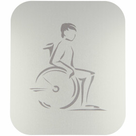 Pictogram, anodized aluminium, disabled self-adhesive
