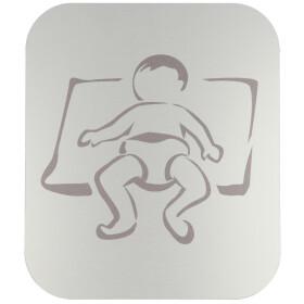 Pictogram, anodized aluminium, baby room self-adhesive