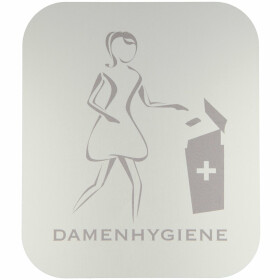 Pictogram, anodized aluminium, ladys hygiene, self-adhesive