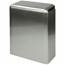 Air-Wolf stainless steel sanitary bin brushed, 6 l
