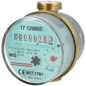 "Domestic water meter single-jet 2.5 m³ 3/4""..."