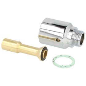 """Valve meter fitting connector piece 1/2"""" x 40 mm"""