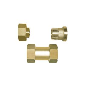 "Screw connection set 1 1/4"" shiny brass"