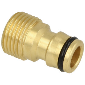 """Adapter 3/4"""" ET with plug-in coupling, brass"""