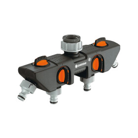 Gardena 4-channel water distributor G 1 and G 3/4