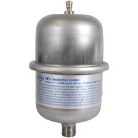 """Diaphragm pressure vessel 1 litre, 1/2"""" ET, with..."""