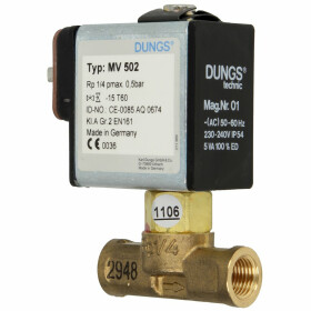 Dungs gas solenoid valve MV502 ¼? NBR electrical...