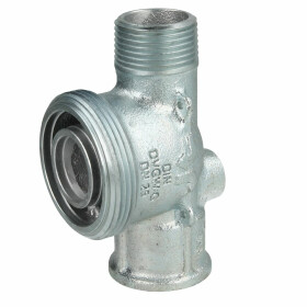 Connector for gas meter GAT DN 25 with test plug