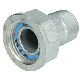 Gas meter screw union, straight, 3/4, galvanized