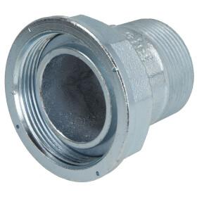 "Gas meter screw union, straight, 1 1/2"" galvanized"