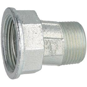 """Eccentric screw union for gas meter, 1"""" galvanised"""