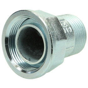 "Test screw union 1"" for gas meter, galvanised"