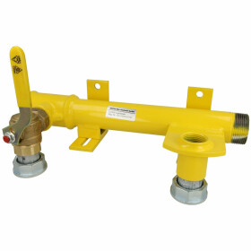 Mounting unit f. double-pipe gas meter ball valve, screw...