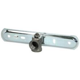 Gas meter plate f. single-pipe gas meter plate galvanised