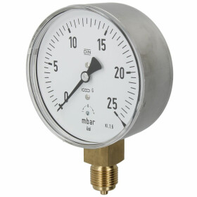 Kapselfedermanometer Gas 0 - 25 mbar