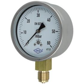 Kapselfedermanometer Gas 0 - 60 mbar