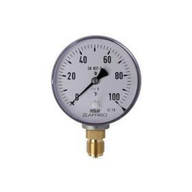 Kapselfedermanometer Gas 0 - 100 mbar