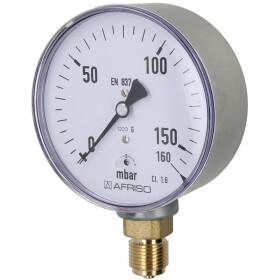 Kapselfedermanometer Gas 0-160 mbar 0 - 160 mbar