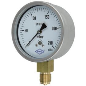 Kapselfedermanometer Gas 0 - 250 mbar