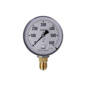 Kapselfedermanometer Gas 0 - 600 mbar