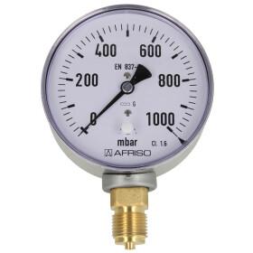 Kapselfedermanometer Gas 0 - 1000 mbar