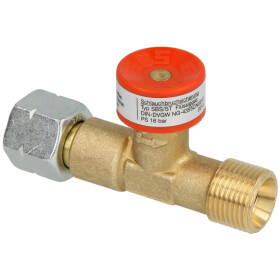 GOK excess flow device medium pressure G 3/8 lh nut x G...