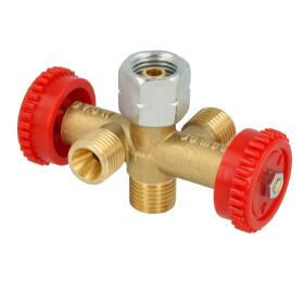 Branch valve PS 4 bar G 1/4 lh nut x 3 x G 1/4 lh M