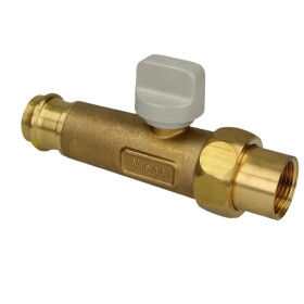 "Viega Gas connection ball valve 1/2"" x 18 mm,..."