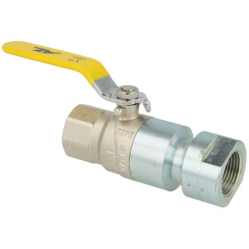 """Ball valve, gas, 1"""" with heat-activated safety valve"""